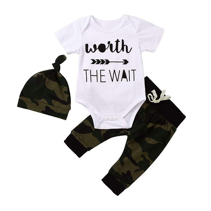 Amazon.com: Vestido de camuflaje de manga corta para bebé ...