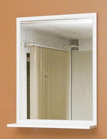 Spiegel mit beleuchtung und ablage  7-6-1645: made in BRD - schöner Wandspiegel - Badspiegel mit ...