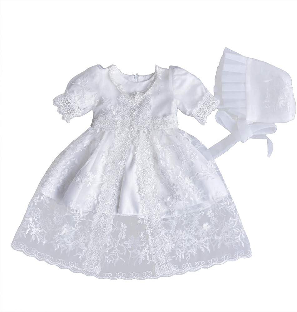 YeahiBaby Falda de Princesa de Encaje Flores Blanca con Sombrero ...