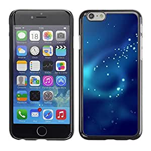 X-ray Impreso colorido protector duro espalda Funda piel de Shell para Apple iPhone 6 Plus(5.5 inches)- Fog Pattern Ray Scatter Light Sea Diving