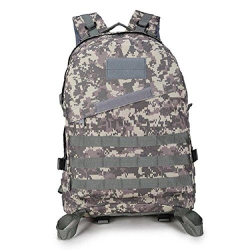 Z&N Backpack Mochila militar camping al aire libre alpinismo deportes hombros mochila de camuflaje mochila táctica militar hombres y mujeres de gran capacidad 40L portátil al aire librecp40L ACU