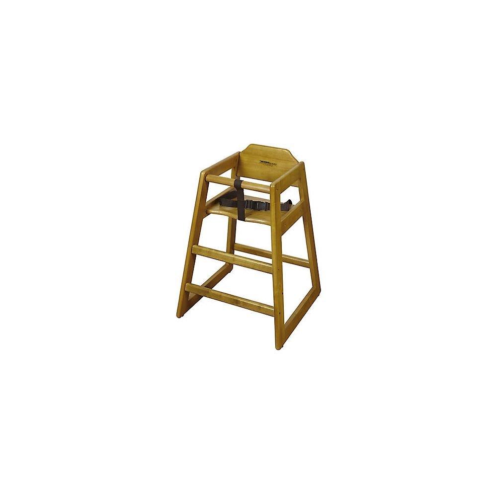 G.E.T. HC-100-W-2 Walnut Finish Wooden Stackable Hi-Chair