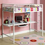 Best Walker Edison Bunk Beds - Sunset Twin Over Workstation Bunk Bed - White Review