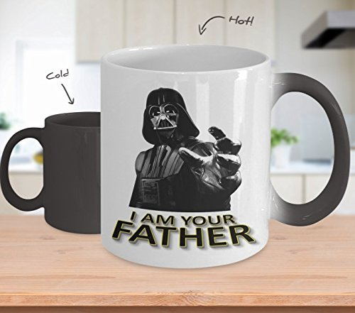 Fathers Day Gifts - Star Wars Mug - I Am Your Father Mug - Funny Color Changing Coffee Mug 11 oz - Gift For Dad From Daughter Son Wife - Darth Vader Mug