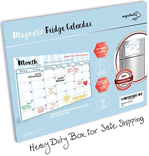 Blank Magnetic Calendar Refrigerator : Magnetmate premium magnetic dry erase calendar for fridge