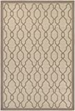 "Couristan Five Seasons Byron Bay Indoor/Outdoor Area Rug, 5'10"" x 9'2"", Cream/Grey"