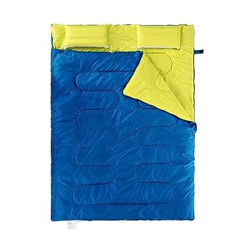 XAJGW Saco de dormir rectangular Más grande Cálido Estaciones para acampar de 3 estaciones para adultos ...