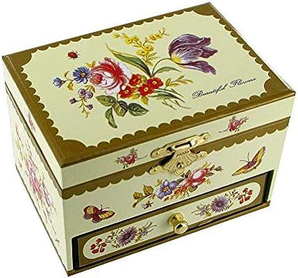 Caja de música para joyas / joyero musical de madera con cajon y ...