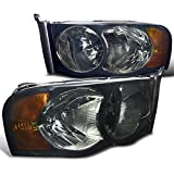 Spec-D Tuning 2LH-DGP02G-RS Dodge Ram 1500 2500 3500 Smoke Head Lights Lamps