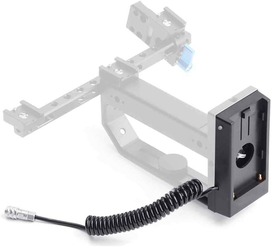 Senyar Battery Adapter Mount Plate,F970 Dummy Battery Power Supply Plate Mount Aviation Connector For BMPCC 4K Camera