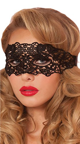 Mordarli Sexy Lady Girl Lace Eye Mask for Halloween Masquerade Party Black ()