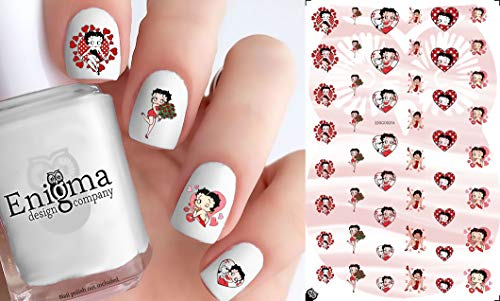 Betty Boop Love Accessories (Clear Water-slide Nail Decals)
