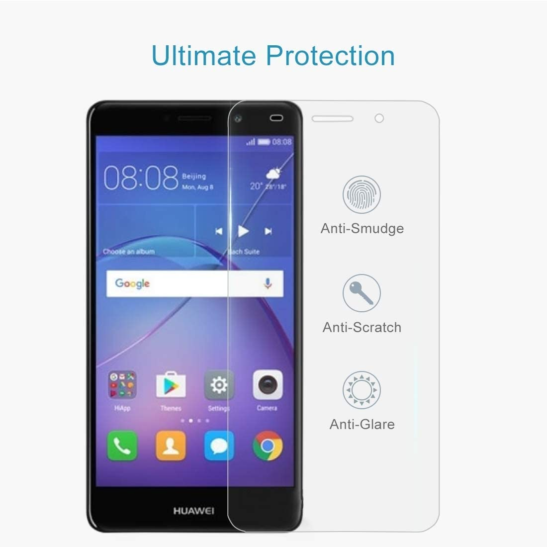 Wangl Mobile Phone Tempered Glass Film 100 PCS for Huawei Y3 2017 0.3mm 9H Surface Hardness 2.5D Explosion-Proof Full Screen Tempered Glass Screen Film Tempered Glass Film