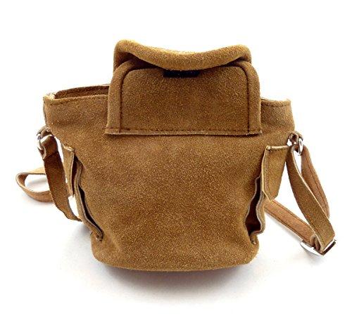 Trachtentasche Dirndltasche kleine Lederhosen-Tasche Umhängetasche Leder Hellbraun