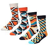 Mens Color Casual Dress Sock Novelty Funny Pattern