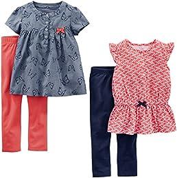 Toddler Girls 4-Piece Tops and Pants Playwear Set