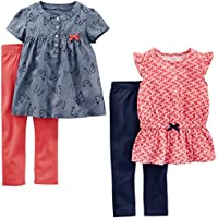 Simple Joys by Carter's Toddler Girls' 4-Piece Tops and Pants Playwear Set