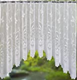 Spring White Jardiniere Net Curtain 100x40 by Ideal Textiles
