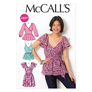 """McCall Pattern Company M6961 Misses' Tops, Belt and Tunic, Size E5 """"14-16-18-20-22"""""""