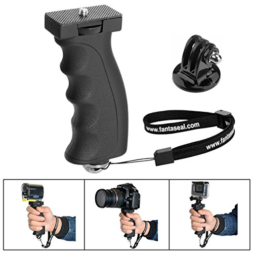 Fantaseal Ergonomic Camera Grip Mount for Nikon Canon Sony DSLR Camera Camcorder+ GoPro Hero5 /4/3/Session Sony Garmin Virb Xiaomi Yi SJCAM Action Camera Hand Grip Stabilizer Handle Support Holder