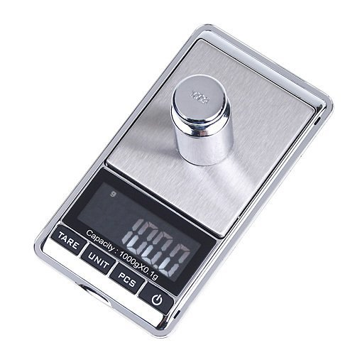 ULTRICS® 0.1g to 1000g 1kg LCD Mini Electronic Digital Scale Laboratory Chemical Agent Jewellery Dimond Weight Balance Pocket Scale portable, ounces, grams, carat, pennyweight, grains, troy measuring units