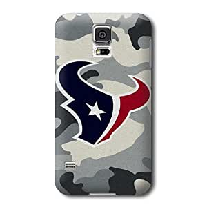 S5 Case, NFL - Houston Texans Camo - Samsung Galaxy S5 Case - High Quality PC Case