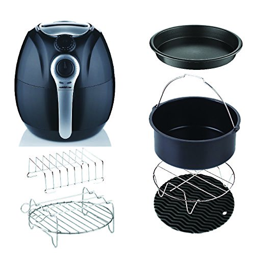 GoWISE USA 3.7-Quart Air Fryer Dial Control W/6 PC ACCESSORY