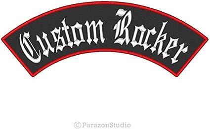 "B Badge Custom Embroidered Rocker Patch Biker Patch Club Outlaw MC 12/"" X 2.25/"""