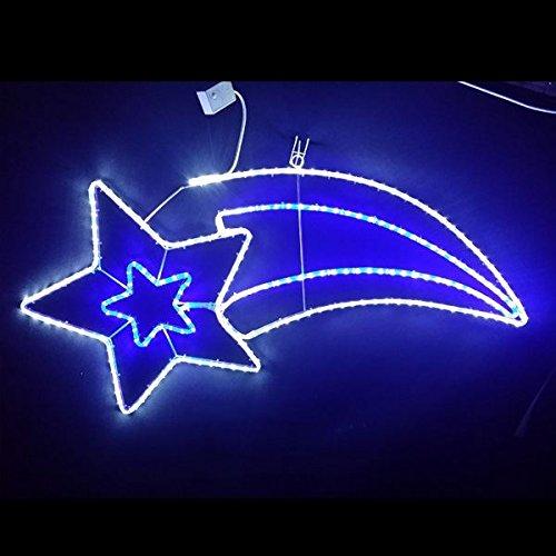 コロナ産業 イルミネーション 流れ星 白青色 LEDスターライトモチーフ L2DM504 【イルミネーションライト】 B015B5GTSU 14040