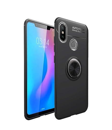 LAGUI Funda Xiaomi Redmi Note 5, Super compacta y al Tacto Muy Fina Silicona Carcasa con Anilla Posterior, Soporte de Montaje Magnético del Coche ...