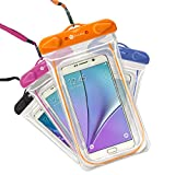 lg g2 case orange - Waterproof Case, 4 Pack F-color Transparent PVC Waterproof Phone Pouch Case Dry Bag for Swimming, Boating, Fishing, Skiing, Rafting, Protect iPhone X 8 7 6S Plus SE, Galaxy S6 S7 Edge, LG G5 and More