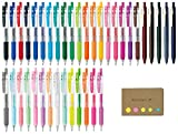 Zebra Sarasa Clip 0.5 Retractable Gel Ink Pen, Rubber Grip, 0.5 mm, 38 Color Ink, Sticky Notes Value Set