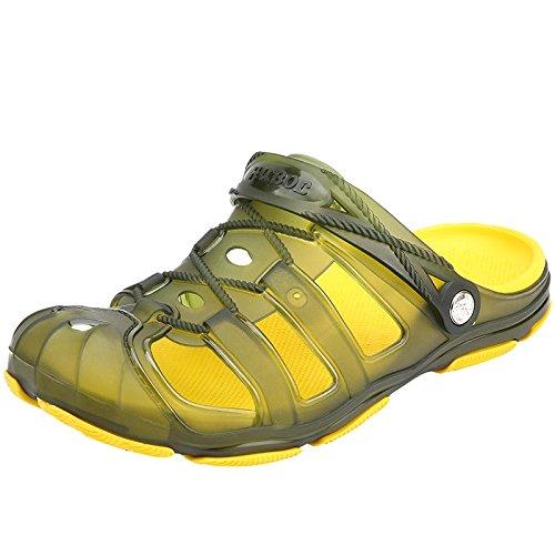 Xing Lin Sandalias De Hombre Tamaño Grande Baotou Quiten Los Zapatos Zapatos Fresco Verano Agujero Del Hombre Zapatos Zapatillas Transpirables Mitad Zapatillas Sandalias green