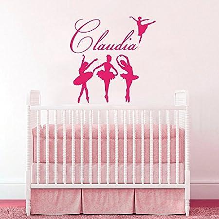 Wall Decals Little Girls Custom Personalized Name Ballerina Girl Ballet Dancer Sport Bedroom Dance Studio Gift  sc 1 st  Amazon UK & Wall Decals Little Girls Custom Personalized Name Ballerina Girl ...