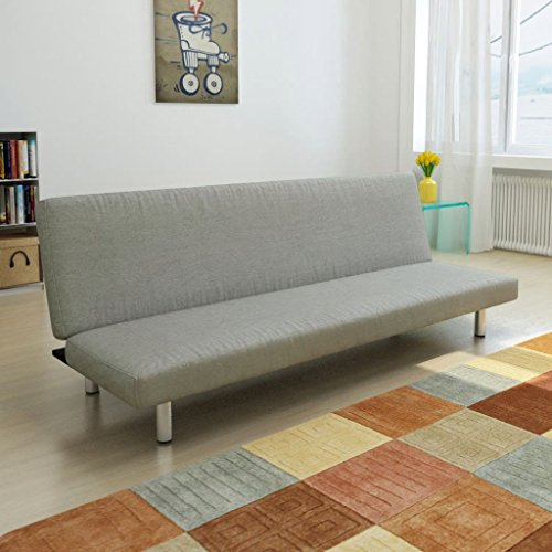 (Festnight Modern Upholstered Sofa Bed Fabric Convertible Reclining Lounge Couch and Sofa Sleeper for Living Room Home Apartment Office Furniture Grey)