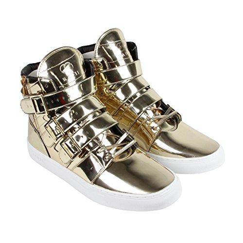 Men Gold Shoes (Radii Men's Straight Jacket Vlc Fashion Sneaker, Liquid Gold, 10 M US)