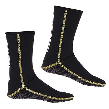IPOTCH Traje de Neopreno Botines Zapatillas de Agua de Buceo 3mm para Hombres, Mujeres Calcetines de Aleta Cálida y Flexible para Kayak Surf