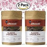 #3: 70% Cacao Dark Chocolate Covered California Almonds - Gluten and Dairy Free, Vegan, Fair Trade, Single Origin Columbian Cacao from Eos Chocolates (Classic, 2 Pack)