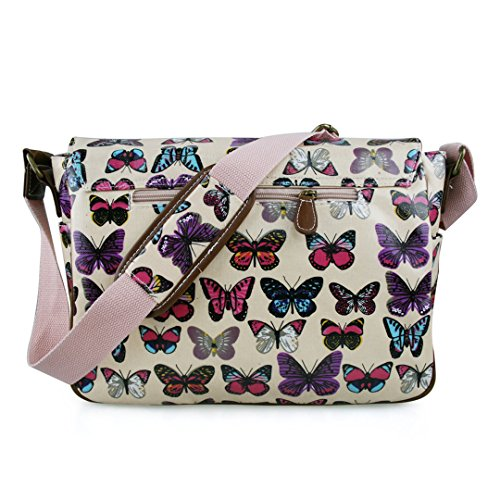 Miss Lulu Butterfly Size Bag Bag Women Pink Crossed Single 44wrq