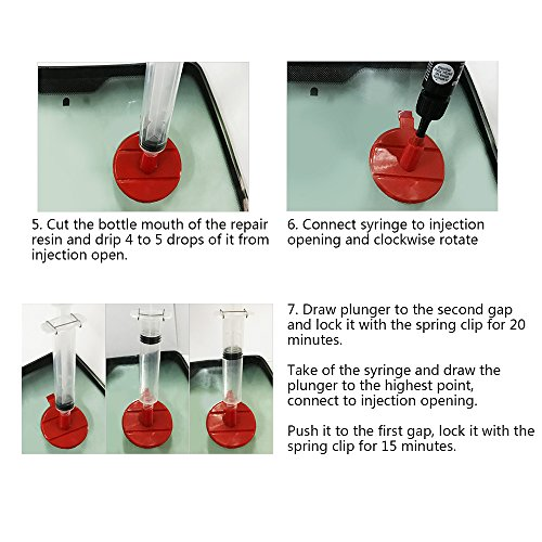 FMS Car Windshield Repair Kit for Different Chips and Cracks by FMS (Image #5)