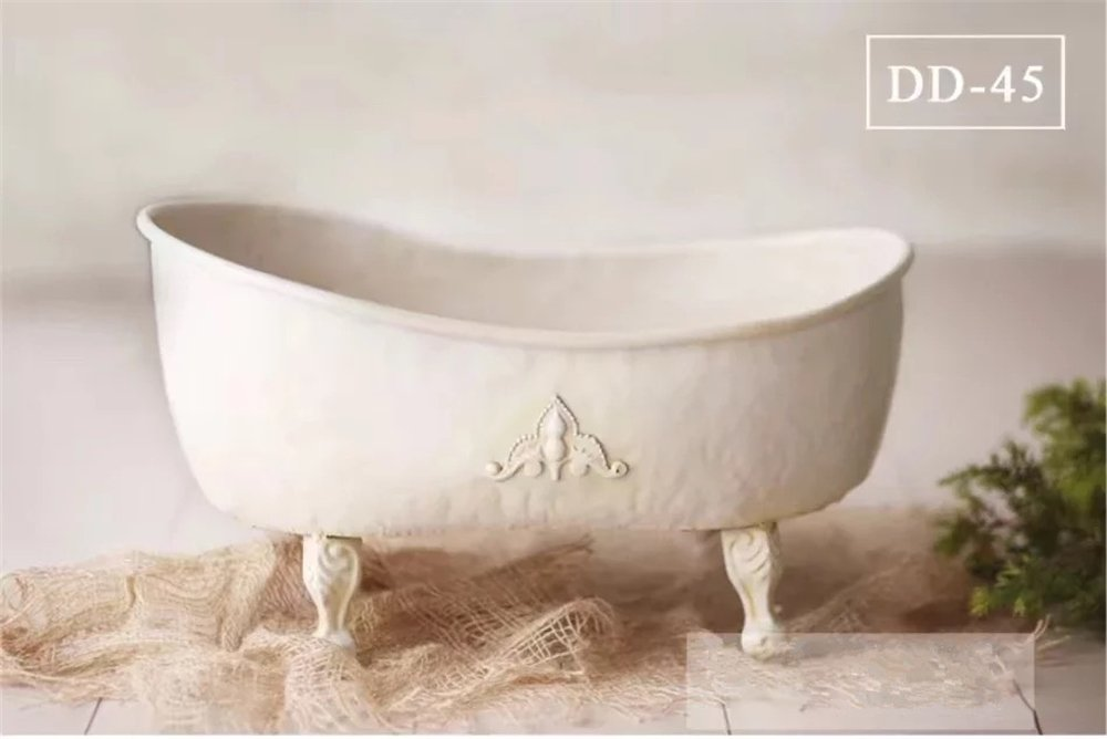 Dvotinst Baby Photography Props for Studio Shoots, Cute and Beautiful Iron Bathtub Posing Props for Newborn Babies by DVOTINST (Image #1)