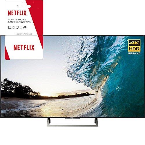 Sony XBR-65X850E 65-inch 4K HDR Ultra HD Smart LED TV (2017 Model) w/ 3 Month Netflix Subscription -  E14SNXBR65X850E