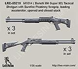 Live Resin 1:35 M1014 Benelli M4 Super90 Shotgun w Surefire Foregrip #LRE35219