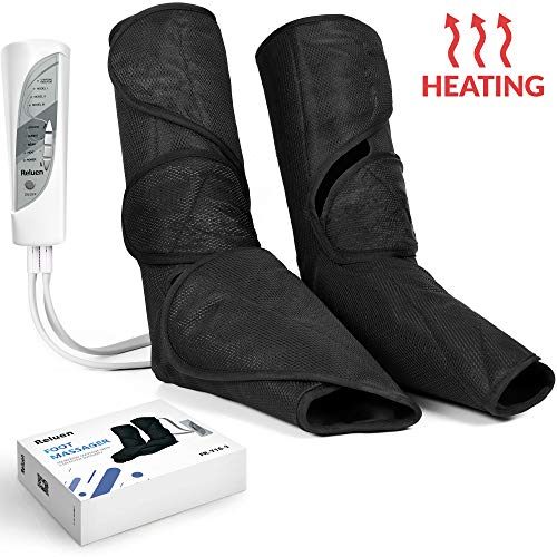 Foot & Calf Air Compression Leg Wrap Electric Massager Machine – 3 Modes, 3 Intensity Levels – Adjustable with Rechargeable Hand-held Remote – Improve Circulation, Relieve Muscle Fatigue & Pain