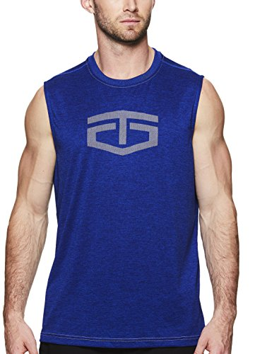 TapouT Men's Muscle Tank Top - Sleeveless Workout & Training Activewear Shirt - Streak Heather Power Muscle, Large