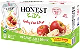 HONEST Kids Organic Juice Drink, Appley Ever After, 6.75 fl oz Pouches (Pack of 32)
