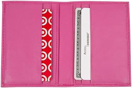 Access Denied RFID Blocking Leather Front Pocket Slim Wallet Credit Card Holder