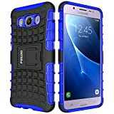 J5 Case,Pegoo Shockprooof Impact Resistant Hybrid Heavy Duty Dual Layer Armor Hard Plastic and Soft TPU With a Kickstand bumper Protective Cover Case for (2016) Samsung Galaxy J5 (Blue)