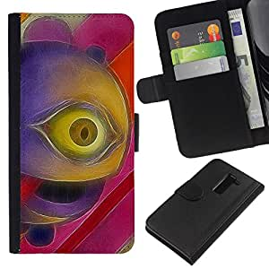 All Phone Most Case / Oferta Especial Cáscara Funda de cuero Monedero Cubierta de proteccion Caso / Wallet Case for LG G2 D800 // Psycho Eye