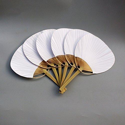 TOOGOO 30 pcs/lot Wedding White Paddle Fan Wedding Decoration by TOOGOO